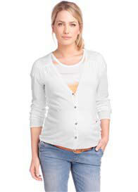 Queen Bee White Maternity Knit Cardigan by Esprit