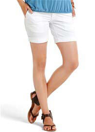 Queen Bee White Maternity Shorts by Esprit