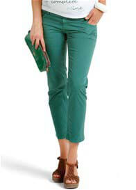 Queen Bee Evergreen Cropped Maternity Pants by Esprit
