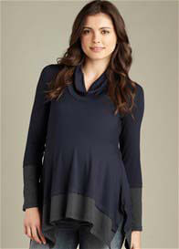 Maternal America - Layered Cowl Neck Top - ON SALE