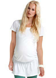 Queen Bee White Short Sleeve Organic Cotton Maternity Tunic by Esprit