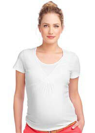 Queen Bee Short Sleeve Maternity/Nursing Tee in White by Esprit