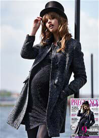Queen Bee Melange Maternity Coat by Queen mum
