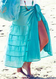 Deshabille - Long Island Sarong in Teal