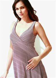 Belabumbum - Reversible Nursing Dress in Eggplant - ON SALE