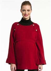 Pomkin - Balthazar Nursing Poncho in Red