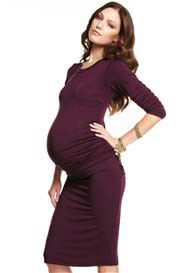 Queen Bee Tres Jolie Purple Maternity Dress by More of Me