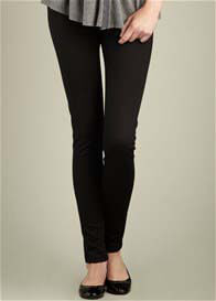 Maternal America - Black Ponte Skinny Pants - ON SALE