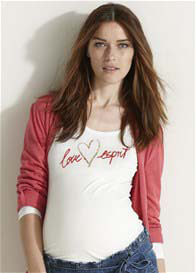 Queen Bee Love Esprit Long Sleeve Maternity Top by Esprit