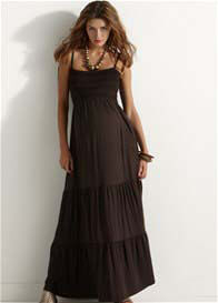Esprit - Coffee Tiered Maxi Dress - ON SALE