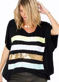 Queen Bee Showstopper Sequin Maternity/Nursing Tee by Fillyboo