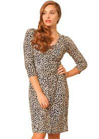 Queen Bee Side Shirred Crossover Nursing Dress by Milk Nursingwear