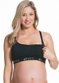 Queen Bee Black Cotton Candy Maternity/Nursing Bra by Cake Lingerie
