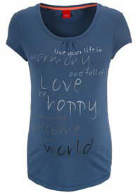 Queen Bee Wellness Harmony Maternity Tee in Blue by Esprit