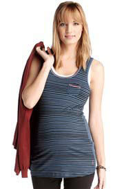 Queen Bee Wellness Striped Maternity Exercise Tank Top by Esprit