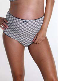 QueenBee® - Larissa Support Briefs in Navy Checks