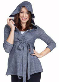 NOM - Stacey Wrap Hoodie - ON SALE