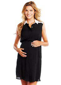 Maternal America - Sleeveless Shirt Dress  - ON SALE