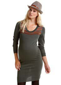 Queen Bee Grey Maternity Knit Dress by Esprit