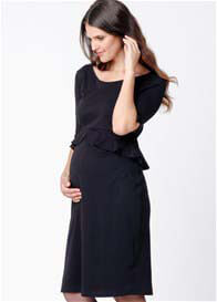 Ripe Maternity - Peplum Dress in Black
