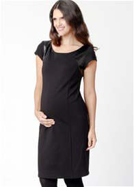Queen Bee Sleek City Maternity Dress in Black by Ripe Maternity