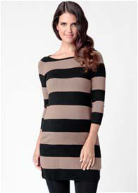 Ripe Maternity - Victoria Stripe Tunic in Malt Stripes