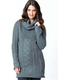 Ripe Maternity - Wool Blend Cable Knit Jumper