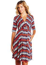 Maternal America - Stork Print Mini Front Tie Dress