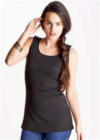 Queen Bee Gemma Black Nursing Tank Top by Trimester Clothing