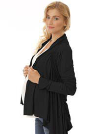 Queen Bee Joey Black Maternity Cardigan by Quack Nursingwear
