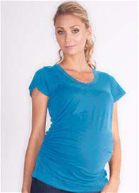 Queen Bee Kristina Maternity Tee in Rain Blue by LA Made