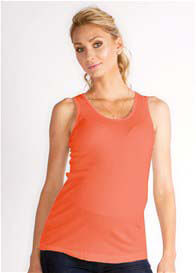 Queen Bee Lana Maternity Tank in Grapefruit Coral by LA Made