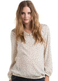 Esprit - Mini Heart Print Blouse - ON SALE