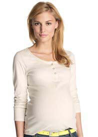 Esprit - Organic Cotton Henley in Off-White