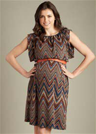 Maternal America - Ziggy Print Sweater Dress w Belt - ON SALE