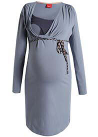 Esprit - Long Sleeve Nursing Dress in Stonegrey