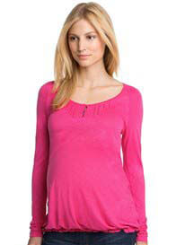 Queen Bee Poet Maternity Blouse in Azalea Pink by Esprit