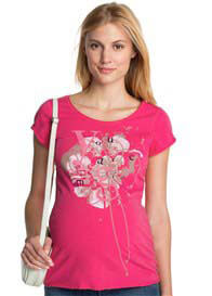 Queen Bee You Are Magic Maternity Tee in Azalea Pink by Esprit