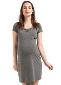 Queen Bee Marni Maternity/Nursing Dress in Grey by Noppies