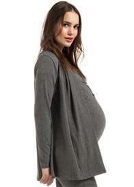 Queen Bee Desi Maternity Cardigan in Grey by Noppies