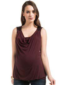 Queen Bee Maya Sequin Detail Sleeveless Maternity/Nursing Top by Noppies