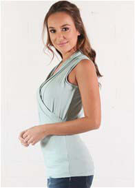 Queen Bee Mia Aloe Green Sleeveless Nursing Top by Floressa Clothing