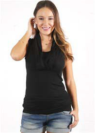 Queen Bee Amelia Black Sleeveless Breastfeeding Top by Floressa Clothing