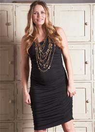 Queen Bee Vanessa Black Maternity Tank Dress by Floressa Clothing
