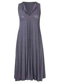 Mesop - Racer Dress in Black Marle - ON SALE