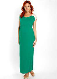 Queen Bee Portofino Green Abbey Maternity Maxi Dress by Everly Grey