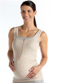 Molly Ades - Zip Nursing Tank in Oatmeal
