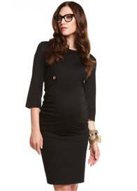 Queen Bee Gracie Black Maternity Dress by More of Me