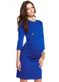 Queen Bee Gracie Blue Maternity Dress by More of Me