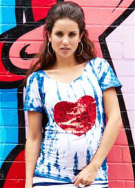Fillyboo - Sugar High Heart Sequin Tee